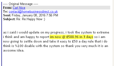 Carl Nice Method Testimonial