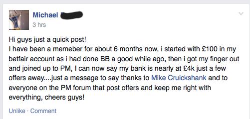 Mikes Latest Testimonial